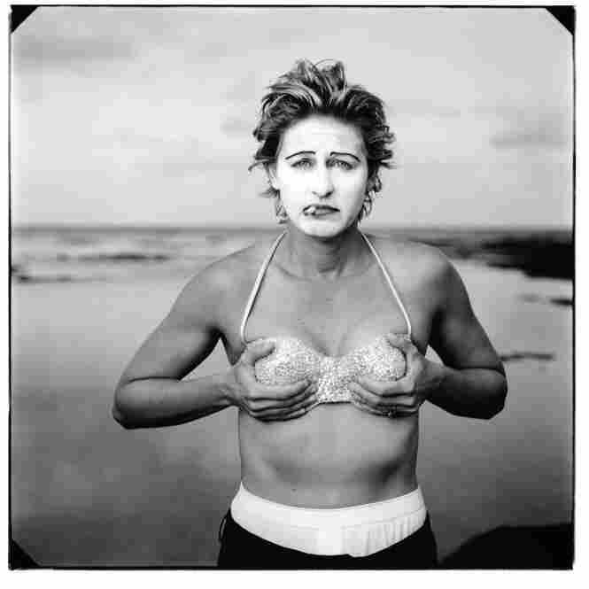 About a quarter-century after AIDS first appeared, a number of artists are examining gender identity in a way that resembles the exhibition's starting point. Ellen Degeneres, Kauai, Hawaii, 1997