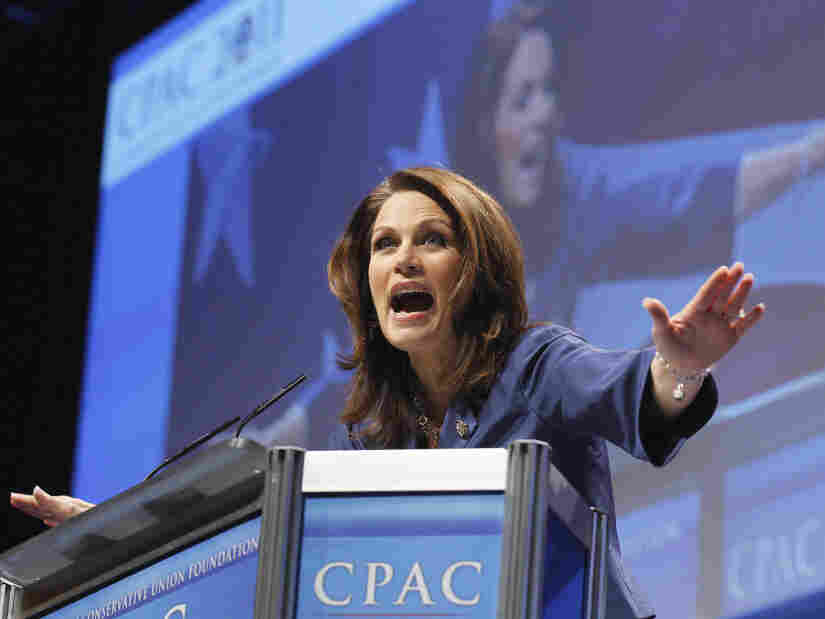 Rep. Michele Bachmann (R-MN) gives the first speech at the Conservative Political Action Conference , Feb. 10, 2011.