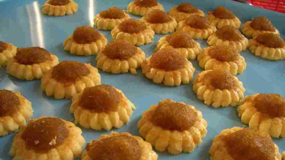 Pineapple tarts from a recipe handed down from Cheryl Tan's paternal grandmother to her aunts in Singapore.
