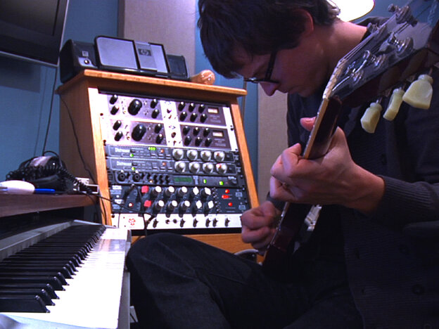 Electronic artist Son Lux (Ryan Lott) lays down a rare guitar track in his studio for the album he's writing and recording in one month.