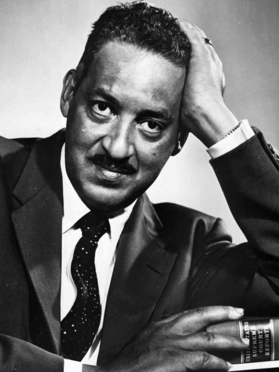 Thurgood Marshall, then chief counsel for the NAACP, poses for a photo ...