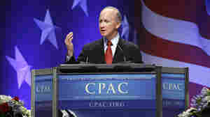 Indiana Gov. Mitch Daniels speaks during the Conservative Political Action Conference in Washington on Friday.