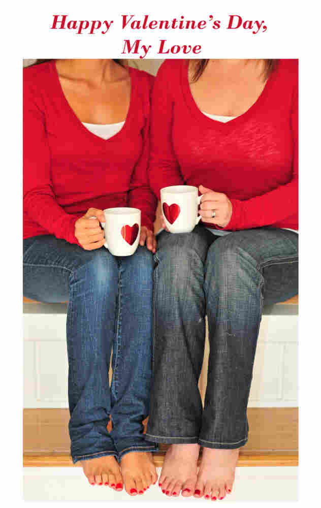 Lesbian and gay lovers have new options for Valentine's Day cards, thanks to the California company A Little To The Left.