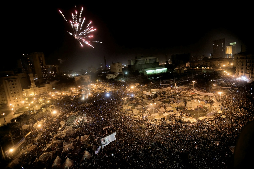 Millions of Egyptians celebrated the country's first transition of power in 30 years.