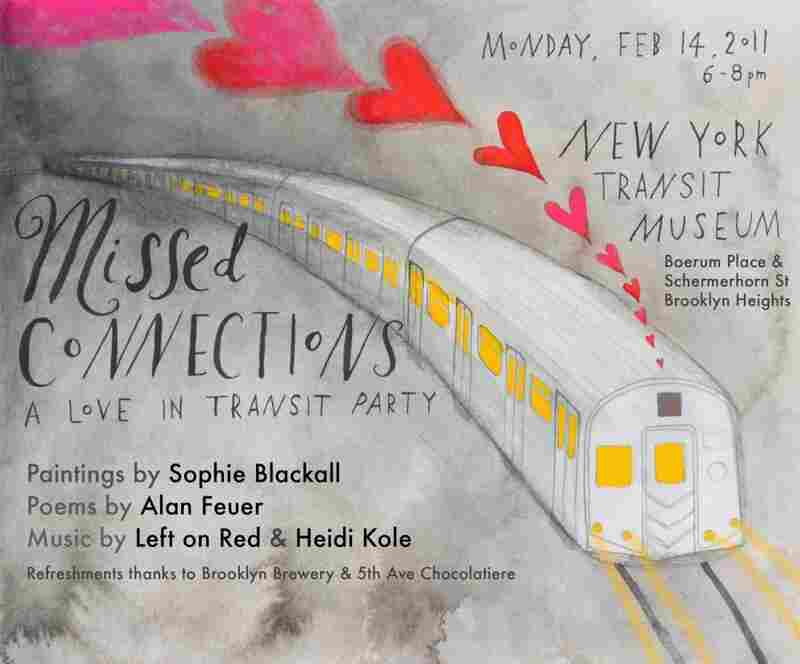 If you are in New York on Valentine's Day, you can attend the Missed Connections party.