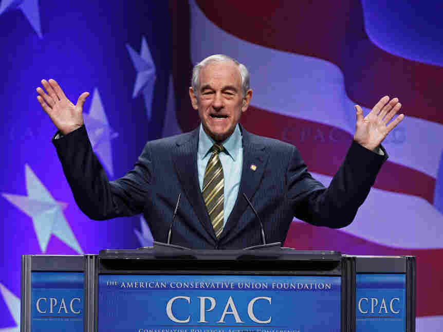 Rep. Ron Paul at the Conservative Political Action Conference, February 11, 2011.