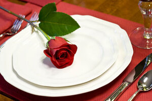 Rose on a plate.