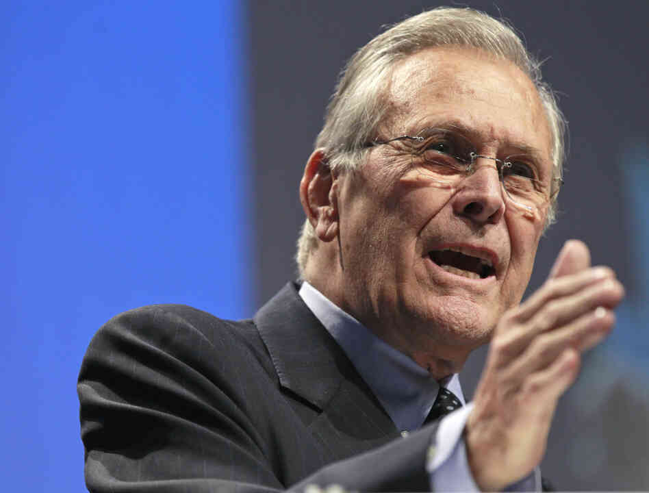Former Defense Secretary Donald Rumsfeld