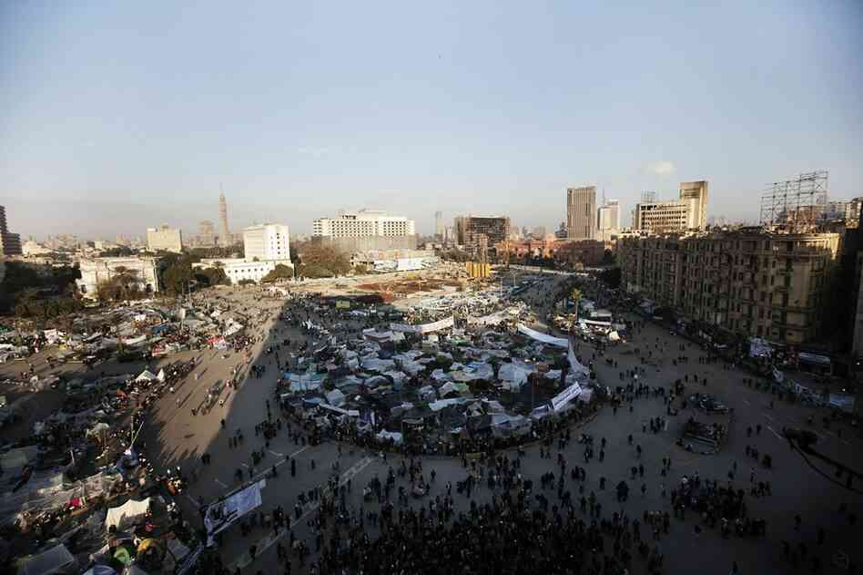 Morning breaks Saturday on Tahrir Square, the epicenter of the popular revolt that drove Hosni Mubarak from power.