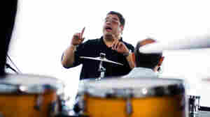Arturo O'Farrill leads the Afro Latin Jazz Orchestra at the Newport Jazz Festival.