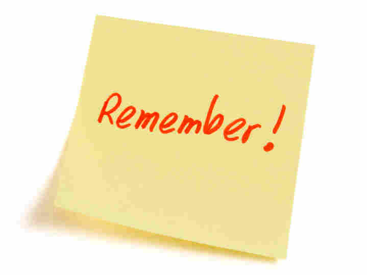 Post it with Remember written on it.