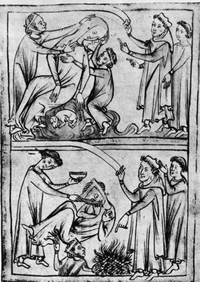 A drawing depicts the death of St. Valentine — one of them, anyway. The Romans executed two men by that name on Feb. 14 of different years in the 3rd century A.D.