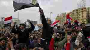 Egyptian policemen demonstrate at Cairo's Tahrir Square, the epicentre of the popular revolt that drove veteran strongman Hosni Mubarak from power.
