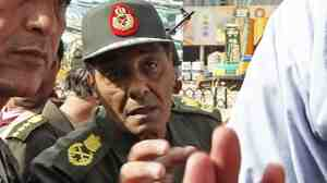 Field Marshal Mohamed Hussein Tantawi, 76, talks to anti-government protesters in Tahrir Square on Feb. 4. Tantawi now heads the military council running Egypt.