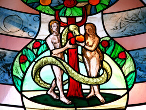 """Knust writes that """"the story of the garden of Eden is the second of two creation stories, the first of which offers quite a different picture of male-female creation, one in which God creates humankind all at once."""""""