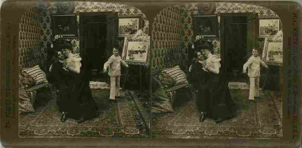 Vintage stereo card
