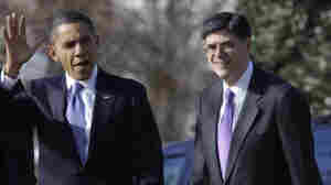 Office of Management and Budget Director Jack Lew walks with President Obama on the South Lawn of the White House on Monday.