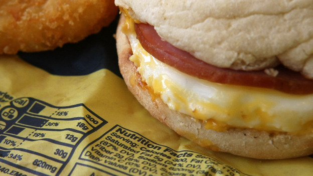 Does knowing the nutritional info for food options influence your choice? A McDonald's Egg McMuffin makes its case. (Getty Images)