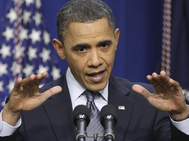 President Obama at a news conference, Feb. 15, 2011.