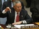 "Secretary of State Colin Powell, at the United Nations on Feb. 5, 2003, holds up a vial that he said was the size that could be used to hold anthrax. Powell was warning that Iraq might have the capability to produce biological and chemical weapons. And some of the faulty intelligence the U.S. relied on was supplied by ""Curveball."""