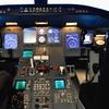 A simulated Canadair Regional Jet flight deck at Embry-Riddle Aeronautical University in Daytona Beach, Fla.