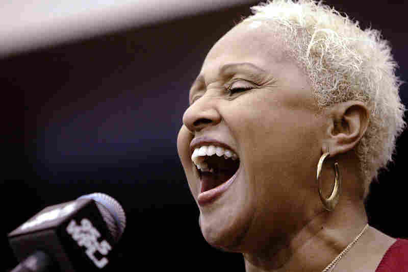 """Love performs at a radio benefit in 2004 after her 80s comeback. Of the hundreds of recordings Love made in early years, the few credited to her name include """"(Today I Met) The Boy I'm Gonna Marry"""" and """"Wait Til My Bobby Gets Home."""""""