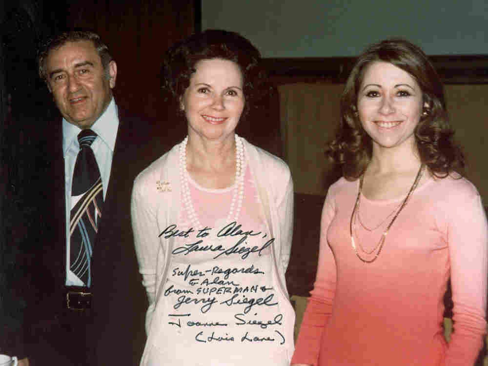 Joanne Siegel (center) at the 1976 Comic Con in San Diego with her husband, Jerry Siegel, the co-creator of Superman, and daughter Laura. Joanne was the inspiration for Clark Kent's love interest Lois Lane. She died on Feb. 12.