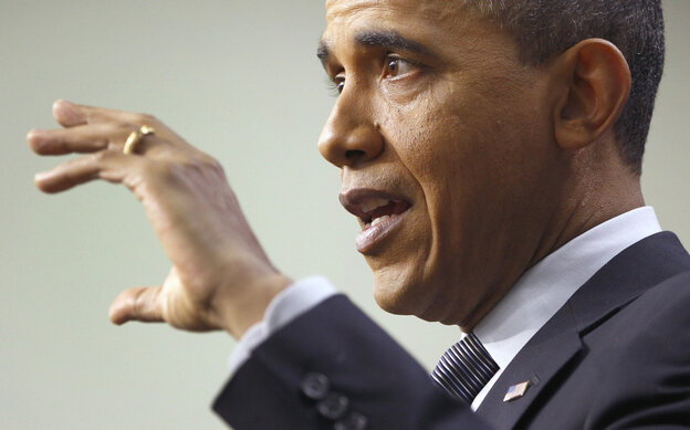 President Obama gestures during Tuesday, Feb. 15, 2011 news conference.