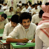 Saudi students sit for their final high school exams at the end of the school year June 19 in the Red Sea port city of Jeddah.
