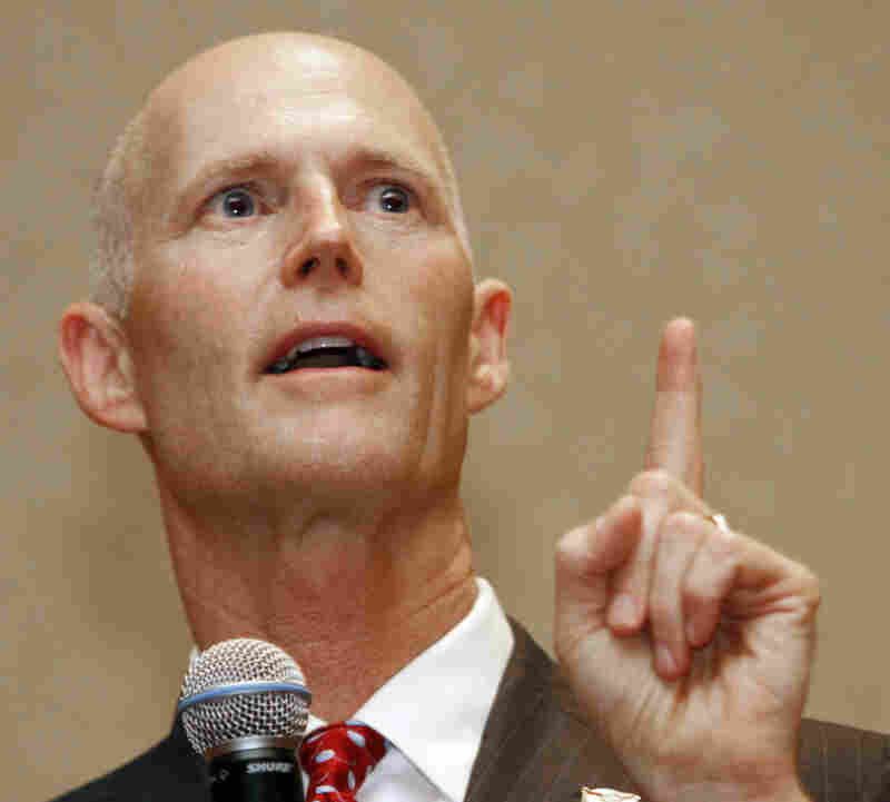 Gov. Rick Scott said there was a good chance that ridership wouldn't pay for the operating cost once the rail line was completed.
