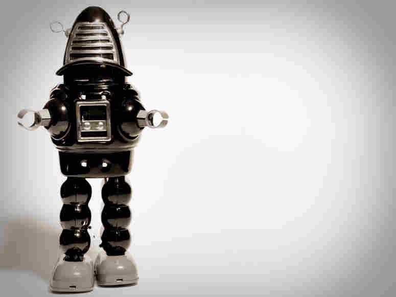 A walking robot.