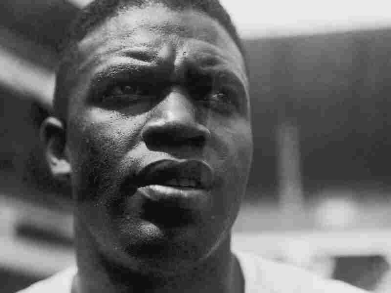 American baseball player Jackie Robinson, who died in 1972, is pictured during his time with the Brooklyn Dodgers in August 1949.