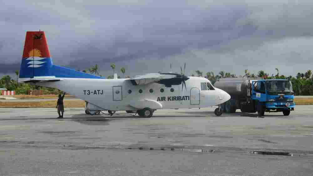 The airport at South Tarawa, Kiribati's capital.