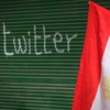 "A shop in Cairo's Tahrir Square is spray-painted with the word ""twitter"" on Feb. 4, days after the  Egyptian government blocked Internet access."