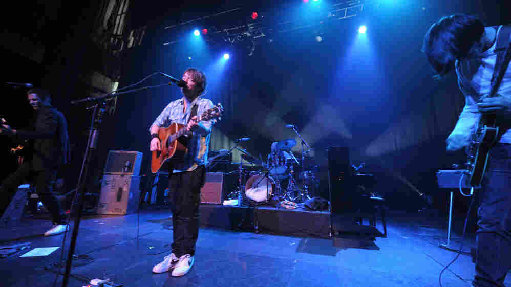 Radiohead onstage in California last year.