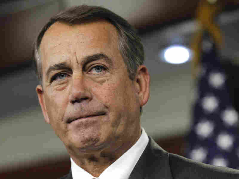 House Speaker John Boehner of Ohio, shown at a Thursday news conference, has done little to tamp down speculation about a government shutdown.