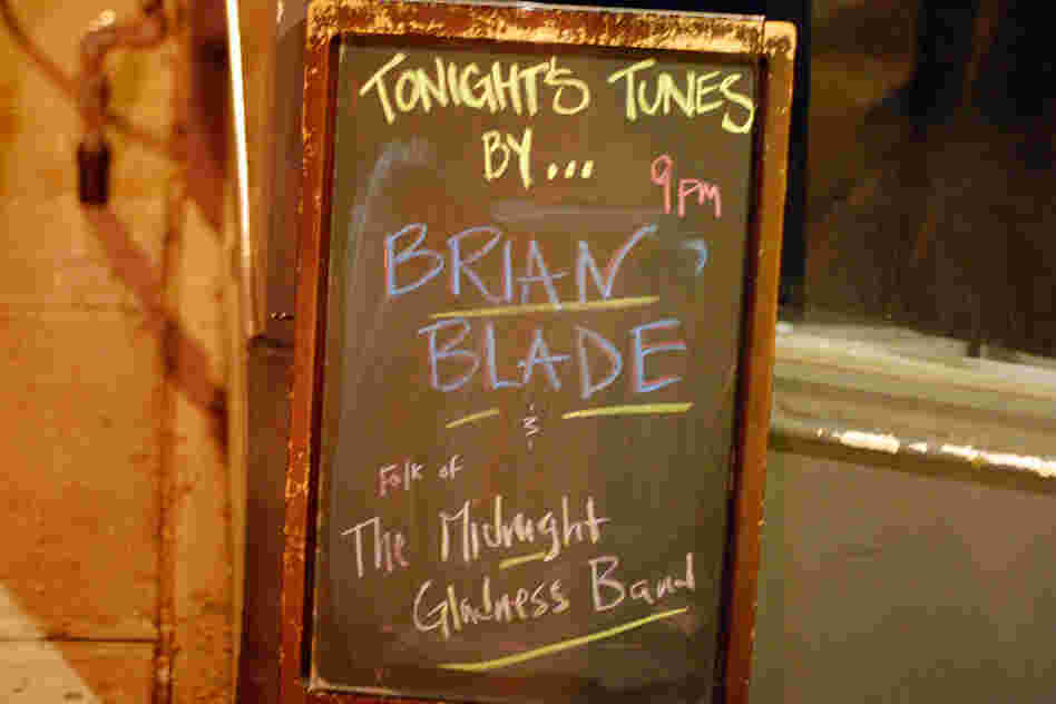 A display for Brian Blade's solo performance at The Pinhook.