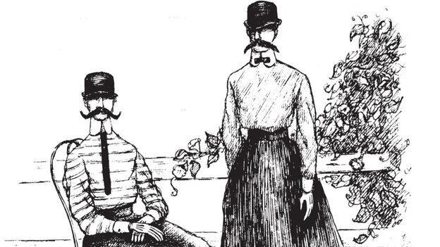 An illustration by Edward Gorey