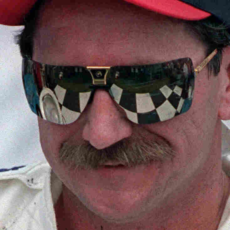 Dale Earnhardt after winning the 1995 International Race of Champions in Daytona Beach, Fla.