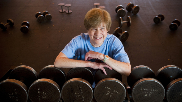 Sandy Palais, 73, of Arizona started lifting weights about 10 years ago after she was diagnosed with osteoporosis. (Jason Millstein for NPR)
