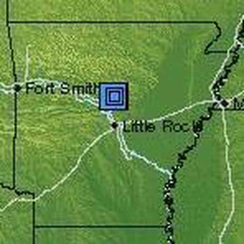 Location of the quakes.