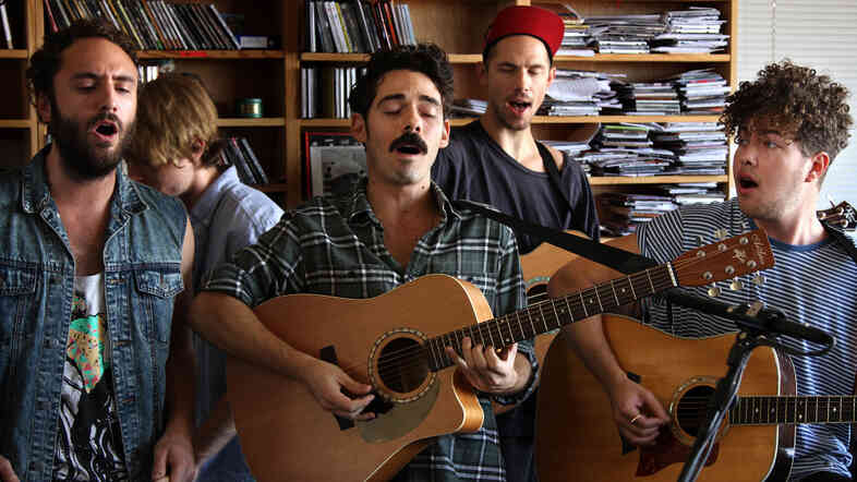 Local Natives perform a Tiny Desk Concert at the NPR Music offices.