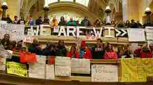 Wis. Capitol Becomes A Stage For Demonstrators