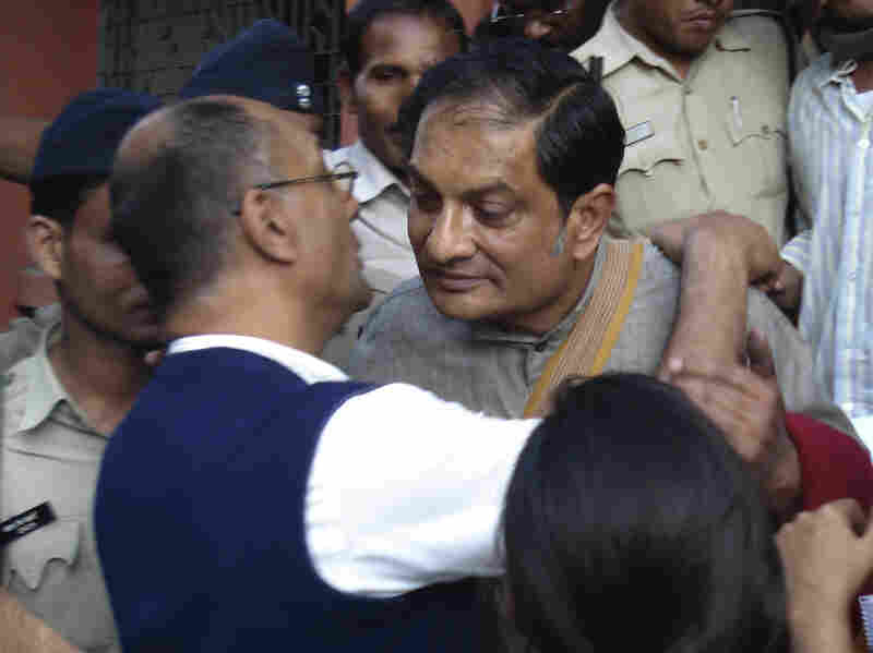 Binayak Sen, an Indian physician, greets relatives last December in Raipur. He was given a life sentence after being convicted of helping Maoist rebels in a case widely criticized by human-rights groups.