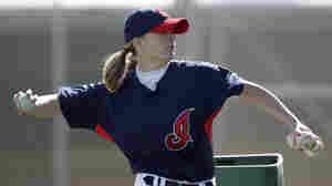 Woman Pitches Batting Practice To Cleveland Indians