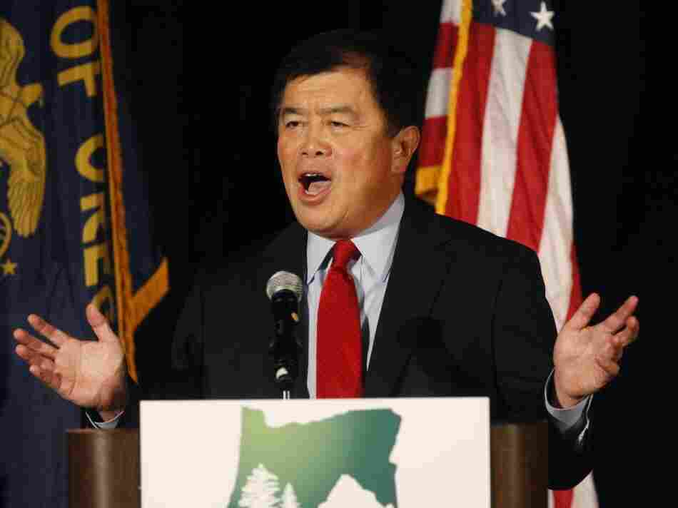 Rep. David Wu (D-OR) on Election Day, 2010.