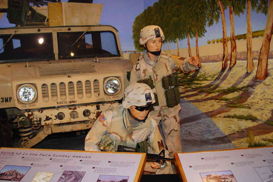 There's even a wax version of Hester on permanent exhibit at the U.S. Army Women's Museum in Fort Lee, Va. The display shows a re-creation of Hester with Squad Leader Staff Sgt. Timothy Nein in action during the Palm Sunday ambush near Salman Pak, Iraq.