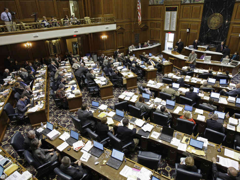 The Indiana House of Representatives in February 2010.