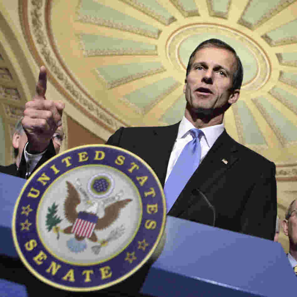 Sen. John Thune, R-S.D. on Capitol Hill, Feb. 8, 2011.