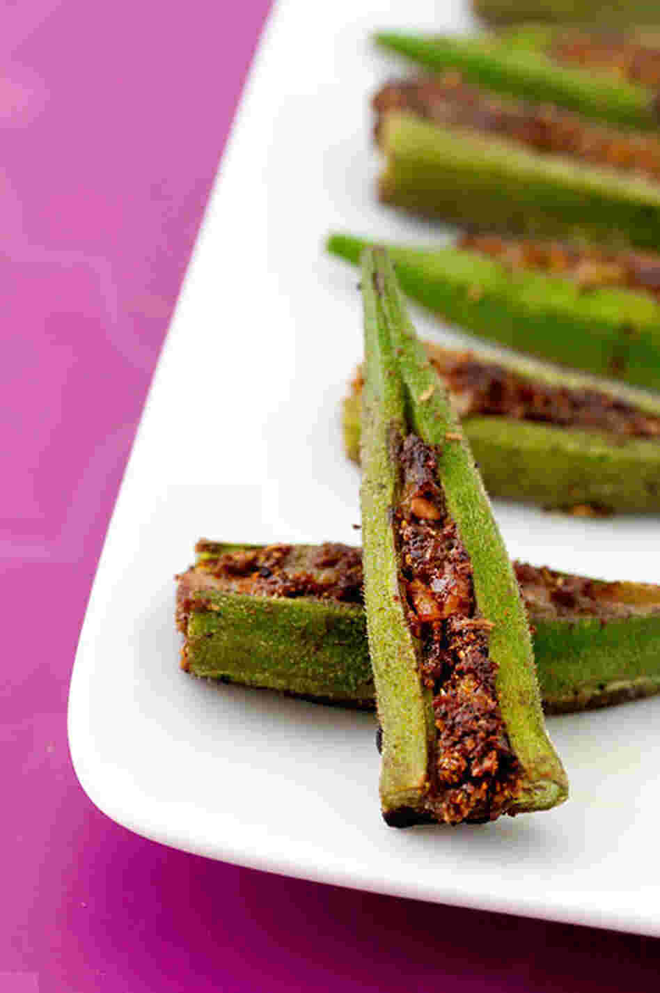 Masala-Stuffed Okra